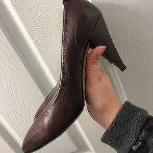 Vintage Christian Dior brown leather heels